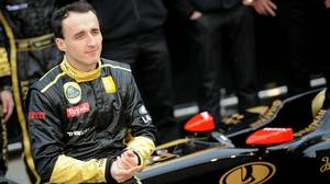 In this January 31, 2011 photograph, Lotus Renault's Polish driver Robert Kubica poses during the presentation of the new Lotus Renault GP R31 at Ricardo Tormo racetrack in Cheste, near Valencia, eastern Spain.