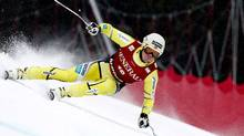 Kjetil Jansrud from Norway competes in the men's World Cup super G race in the Norwegian ski resort of Kvitfjell, March 4, 2012. (Reuters/Reuters)