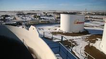 File photo of an Enbridge facility in North Dakota. (Nathan VanderKlippe/The Globe and Mail)
