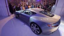 Aston Martin stands at the centre of an international takeover battle after Mahindra and Mahindra trumped an Italian bid for half of the British luxury car maker. (Vivek Prakash/REUTERS)