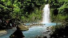 The Celeste river waterfall at Tenorio Volcano National Park in Upala, Costa Rica. (JUAN CARLOS ULATE/REUTERS)