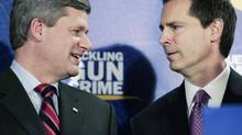 Prime Minister Stephen Harper and Ontario Premier Dalton McGuinty in earlier days: Both leaders have drawn criticism for abusing prorogation. (REUTERS)