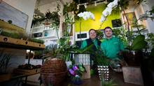 Tim Hiltz, left, and his husband Mark Hiltz, owners of Coal Harbour Green Design have decidd to give up their business because of the lack of year-round clientele. (DARRYL DYCK/THE GLOBE AND MAIL)