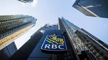 A Royal Bank of Canada (RBC) logo is seen on Bay Street in the heart of the financial district in Toronto, January 22, 2015. (MARK BLINCH/REUTERS)