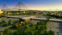 An artist rendering of the Detroit River International Crossing project (Handout photo/Handout photo)
