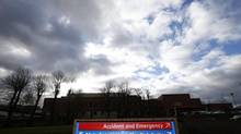 A sign board is seen at the Stafford Hospital in central England February 6, 2013. The deaths of hundreds of hospital patients, left without food or water in filthy conditions, exposed an urgent need to change the culture of Britain's National Health Service (NHS), a report said on Wednesday. Between 400 and 1,200 patients are estimated to have died needlessly at Stafford Hospital in central England between January 2005 and March 2009 in one of the worst scandals to hit the NHS since it was founded in 1948. (DARREN STAPLES/REUTERS)