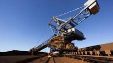 A reclaimer operates at Fortescue Herb Elliott Port in Port Hedland, Western Australia. (Fortescue via/REUTERS)