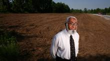 June 21, 2012: Dr. Suleiman Gardee poses in front of the new Muslim cemetery in Ottawa. (Dave Chan/Dave Chan)