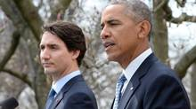 Prime Minister Justin Trudeau (left) and U.S. President Barack Obama hold a joint news conference in the Rose Garden at the White House in Washington, D.C. on Thursday, March 10, 2016.