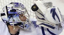 An undisclosed injury is keeping Toronto Maple Leafs goaltender James Reimer out of action. REUTERS/Brian Snyder (Brian Snyder/REUTERS)