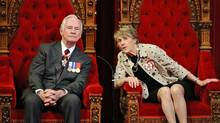 Governor-General David Johnston and his wife Sharon wait to deliver the Speech from the Throne in the Senate Chamber on June 3, 2011. (Sean Kilpatrick/THE CANADIAN PRESS)