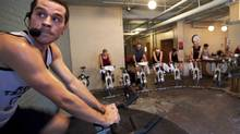 A three-hour spin class at Quad (Michelle Siu/Michelle Siu for The Globe and Mail)