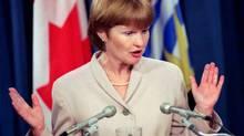 Joy MacPhail in Victoria, Jan 23, 1996. (Debra Brash/ The Canadian Press/Debra Brash/ The Canadian Press)