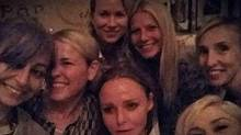 Gwyneth Paltrow and friends. Flanking Paltrow in the picture: World-renowned fashion designer Stella McCartney, talk-show host Chelsea Handler, singer Gwen Stefani, film director Sam Taylor-Wood, reality-TV star Nicole Richie and actress Naomi Watts. (Instagram)
