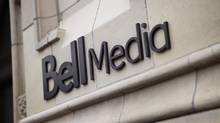 The logo for Bell Media, owned by BCE Inc., is displayed on a Toronto building in a handout photo. (Darren Goldstein/Handout)