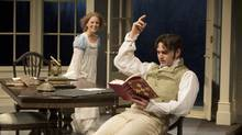 Kate Besworth as Thomasina Coverly and Gray Powell as Septimus Hodge in Arcadia. (David Cooper)