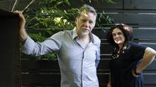 Photographer Edward Burtynsky and filmmaker Jennifer Baichwal, co-directors of the documentary Watermark. (Fernando Morales/The Globe and Mail)