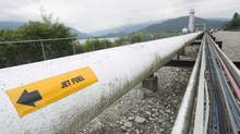A pipeline is pictured at the Kinder Morgan Trans Mountain Expansion Project in Burnaby, B.C. (JONATHAN HAYWARD/The Canadian Press)