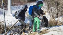 There has been a recent influx of refugees fleeing the U.S., who have been crossing fields and ditches near Canadian border communities such as Emerson-Franklin, Man. and Hemmingford, Que. (Paul Chiasson/THE CANADIAN PRESS)