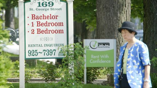The average national price for a two-bedroom rental in new and existing buildings rose to $887 in April 2012 from $864 a year earlier, according to the latest report from CMHC. The vacancy rate, meanwhile, slipped to 2.3 per cent from 2.5 per cent. (Kevin Van Paassen/The Globe and Mail)