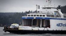 The Powell River Queen makes her way into in Campbell River, B.C., on April 3. (John Lehmann/The Globe and Mail/John Lehmann/The Globe and Mail)