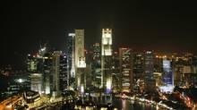 A view of the Singapore skyline. (LUIS ENRIQUE ASCUI/REUTERS)