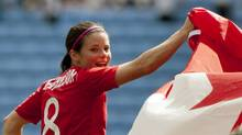 Canada's Diana Matheson will miss the coming NWSL season with a knee injury. (Jon Super/AP)