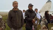 Filmmakers Neil Diamond, left, and Zacharias Kunuk produced a 45-minute documentary on a war in the 1700s between Cree and Inuit communities on Hudson Bay.