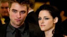 Robert Pattinson, Kristen Stewart attend the UK premiere of The Twilight Saga: Breaking Dawn Part 1 at Westfield Stratford City on November 16, 2011 in London, England. (an Gavan/Getty Images)