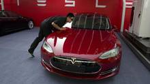 The Tesla Model S is among the growing number of electric cars in the marketplace. (Ng Han Guan/The Associated Press)