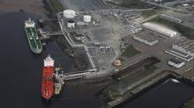 An aerial view of Irving Oil's East Saint John's Marine Terminal on Courtenay Bay in Saint John, New Brunswick, on August 27, 2013. (Christinne Muschi For The Globe and Mail)