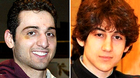 This combination of undated photos shows Tamerlan Tsarnaev, 26, left, and Dzhokhar Tsarnaev, 19. The FBI says the two brothers and suspects in the Boston Marathon bombing killed an MIT police officer, injured a transit officer in a firefight and threw explosive devices at police during a getaway attempt in a long night of violence that left Tamerlan dead and Dzhokhar still at large on Friday, April 19, 2013. The ethnic Chechen brothers lived in Dagestan, which borders the Chechnya region in southern Russia. They lived near Boston and had been in the U.S. for about a decade, one of their uncles reported said