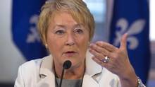Quebec Premier Pauline Marois said she remains open to TransCanada Corp.'s proposed west-to-east oil pipeline. (CLEMENT ALLARD/THE CANADIAN PRESS)