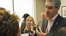 Liberal Leader Michael Ignatieff meets with Etobicoke-Lakeshore constituents at his new Toronto office on Jan. 22, 2011. (Aaron Vincent Elkaim/THE CANADIAN PRESS)