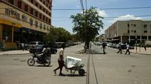 The central business district of Tete, Mozambique. The country has slashed its aid dependency from 74 per cent of government expenditures to 58 per cent in the past decade. (GIANLUIGI GUERCIA/GIANLUIGI GUERCIA/AFP/GETTY IMAGES)