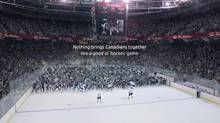 Frame grab froma 2014 Tim Horton's commercial Tim Hortons Good Ol' Hockey Game featuring Sidney Crosby.