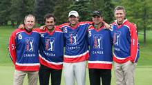 The five players who earned their way onto the Web.com Tour in 2014 after finishing atop the PGA Tour Canada Order of Merit (PGA Tour Canada)