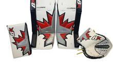 Winnipeg Jets goalie Chris Mason's goalie pads designed by Brian's Custom Sports Limited.