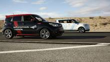 Kia's partially autonomous vehicle designed from the Soul EV. (Jordan Chittley/The Globe and Mail)