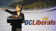 British Columbia Premier Christy Clark addresses the B.C. Liberals convention in Penticton, B.C. on May 14, 2011. (Jeff Bassett For The Globe and Mail)