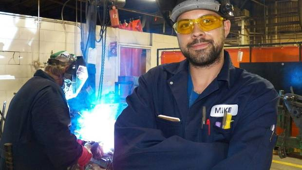 Ontario resident Michael Reid struck out for Saskatchewan after his wife found a slew of job listings for welders on the provincial government's website. 'There's lots of work' for skilled tradesmen in Western Canada, he said. (SHANNON DEVEAU FOR THE GLOBE AND MAIL)