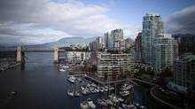 Real estate is seen in downtown Vancouver in this Oct. 16, 2012 file photo. Vancouver is about to see its first privately built development with a substantial portion of units aimed at lower-income families. (Rafal Gerszak For The Globe and Mail)