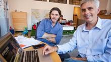 Founder of Civilized Derek Riedle (left) and editor Mark Leger. (markhemmings.com)