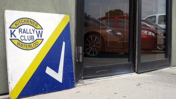 A coffee shop in Kitchener, Ont., is one of three starting points for the Mini Monte Rally on July 22. (Darren McGee/The Globe and Mail)