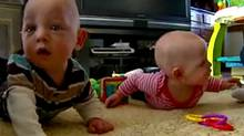 Reed and Anna Vangoethem, born premature, play in the family's home. (KMBC/KMBC.com)