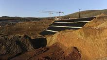 A general view of the construction site of a mine of Hellas Gold, a subsidiary of Canadian mining company Eldorado Gold Corp, in Skouries, in the Halkidiki region, northern Greece. (Alexandros Avramidis/Reuters)