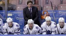 Toronto Maple Leafs head coach Mike Babcock coached his 1,000th NHL game on Thursday night – as his Toronto Maple Leafs played the New Jersey Devils – making him one of only 25 men to reach that milestone. (Alan Diaz/THE ASSOCIATED PRESS)