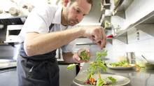 Justin Cournoyer, chef and co-owner of Actinolite in Toronto, is keen to improve the sustainability of his menu. (Kevin Van Paassen For The Globe and Mail)