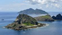 The tiny islands in the East China Sea, called Senkaku in Japanese and Diaoyu in Chinese. (AP)