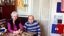 Art collectors Dorothy and Herb Vogel a few years ago in their art-filled New York apartment (Herb died last summer.)